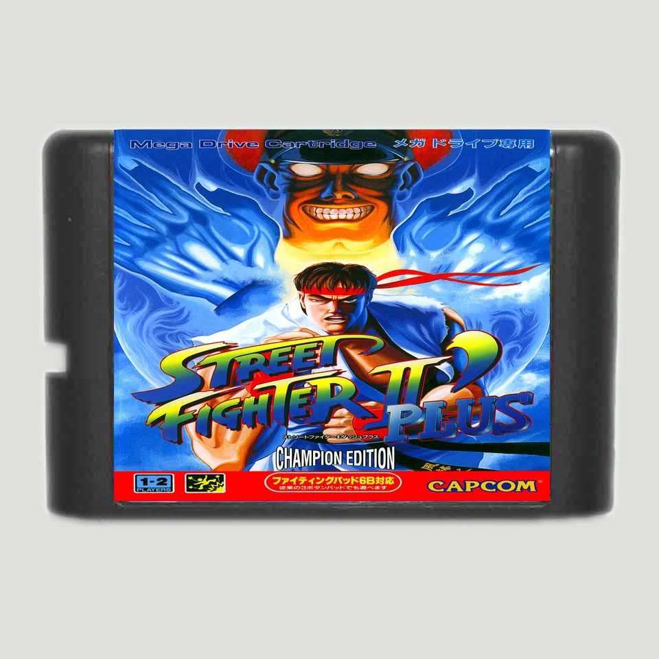 Street Fighter II plus 16 bit MD Game Card For Sega Mega Drive For GenesisStreet Fighter II plus 16 bit MD Game Card For Sega Mega Drive For Genesis