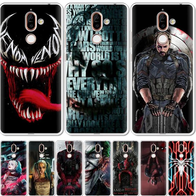 brand new d1614 71ff9 US $0.98 21% OFF|Venom Soft Silicone TPU Case For Nokia 1 2 3 5 6 8 9 2017  Back Case Cover For NOKIA 2.1 3.1 5.1 6.1 Plus 2018 Phone Case-in Fitted ...