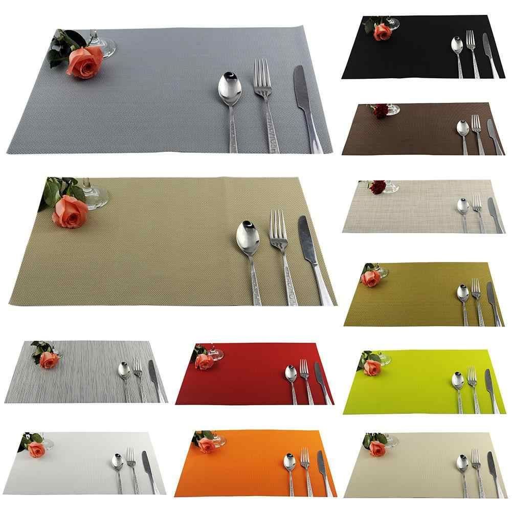 Washable PVC Placemat Insulated Table placemat Protect Anti-slip plate Bowl Protection pad Coaster Dining Supplies Party Decor