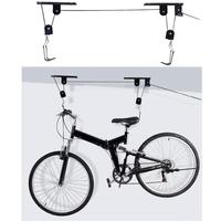 45 lbs Strong Bike Bicycle Lift Ceiling Mounted Hoist Storage Garage Hanger Pulley Rack Metal Lift Assemblies Wall Mounted