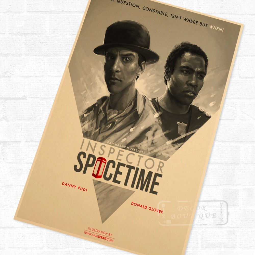 US $3 14 21% OFF|Inspector Spacetime Community Season 3 US TV Drama Vintage  Retro Poster Decorative DIY Wall Canvas Stickers Home Posters Art Dec-in