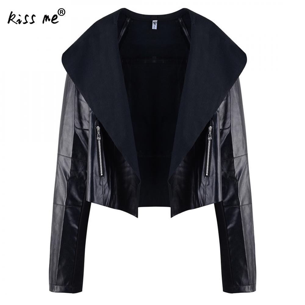 Black Women Faux   Leather   Berber   Suede   Shearling Coats Vintage Motorcycle Thicken Jacket Artificial Fur Warm Coats 2018 New