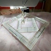 6 шт. многофункциональные одежды линейки для пэчворка шитья/стеганая линейка/линейка портного/Измерительные инструменты ткань лист шаблон для изготовления