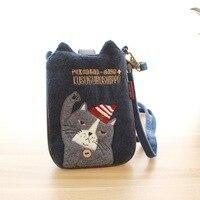 Japon Tarzı Peluş Kedi Küçük Kızlar Messenger Çanta Flap Çocuk Crossbody Çapraz Vücut Çanta Mini Sikke çanta Debriyaj Kadın Çanta