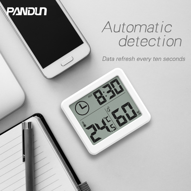 PANDUN ultra-thin simple LCD digital LCD hygrometer thermometer accurate and durable electronic energy-saving temperature and hu