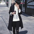 High Quality Spring New Fashion Mens Slim Fit Long Coats Casual Outwear Cotton Trench For Men Plus Size Black Free Shipping