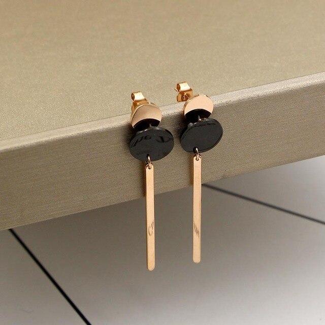 Aliexpresscom Buy 2017 New black rose gold double disc hanging