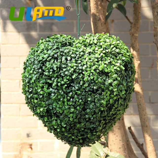 Decorative Boxwood Balls Simple Uland Love Heart Artificial Boxwood Balls Artificial Plants Ball Inspiration