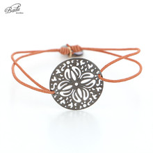 Badu Elastic Charm Bracelet Women Hollow Flower Pattern Pendant String Bracelets For Girls Adjustable Wrist Band Wholesale