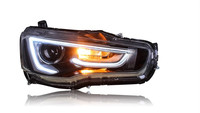 Free shipping for China VLAND car Head lamp for 2008 2012 2015 LANCER LED headlight with A5 style DRL H7 Xenon lamp