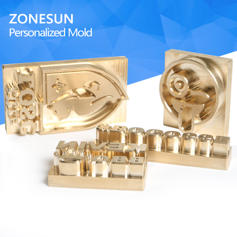 ZONESUN Logo Customized Brass Mold Leather Wood PU Copper Stamping Mold Plate For Machine Hot Foil Stamp custom design dies embossing mould leather hot stamping mold copper mold leather mold wood stamp wood mold free shipping