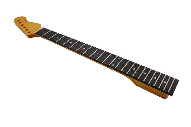 KAISH 22 Fret ST Strat Kanadalı Akçaağaç Gitar Boyun Gülağacı klavye Abalone Kakma ve Kemik Somun