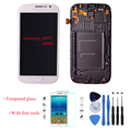 High Quality Original LCD Touch Screen Digitizer + Frame Assembly For Samsung Galaxy Grand Duos i9082 i9080 White
