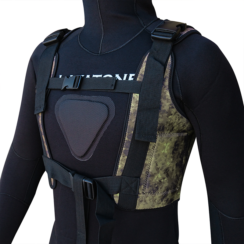 Layatone Diving Weight Vest 3mm Neoprene Wetsuit Tank Top Adjustable Buckle Diving Belt Spearfishing Load Vest