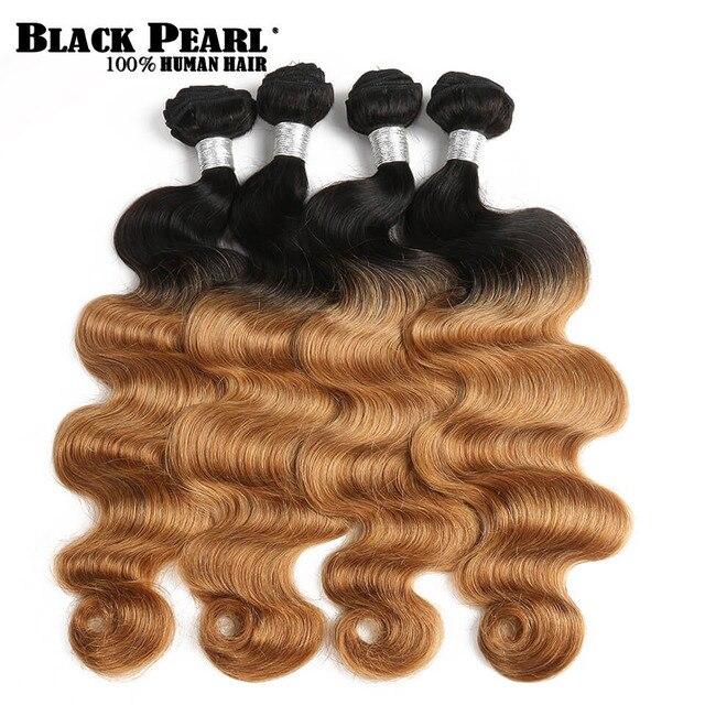 Us 19 52 39 Off Black Pearl Pre Colored Honey Blonde Ombre Hair Weave Bundles Body Wave Human Hair1 4 Bundles T1b27 Remy Hair Extensions In Hair