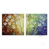2 panele Ręcznie Malowane obraz olejny nóż kwiat na Płótnie Wall Art Dekoracji Cuadros Rozciągniętej Ramki Gotowy do Powieszenia