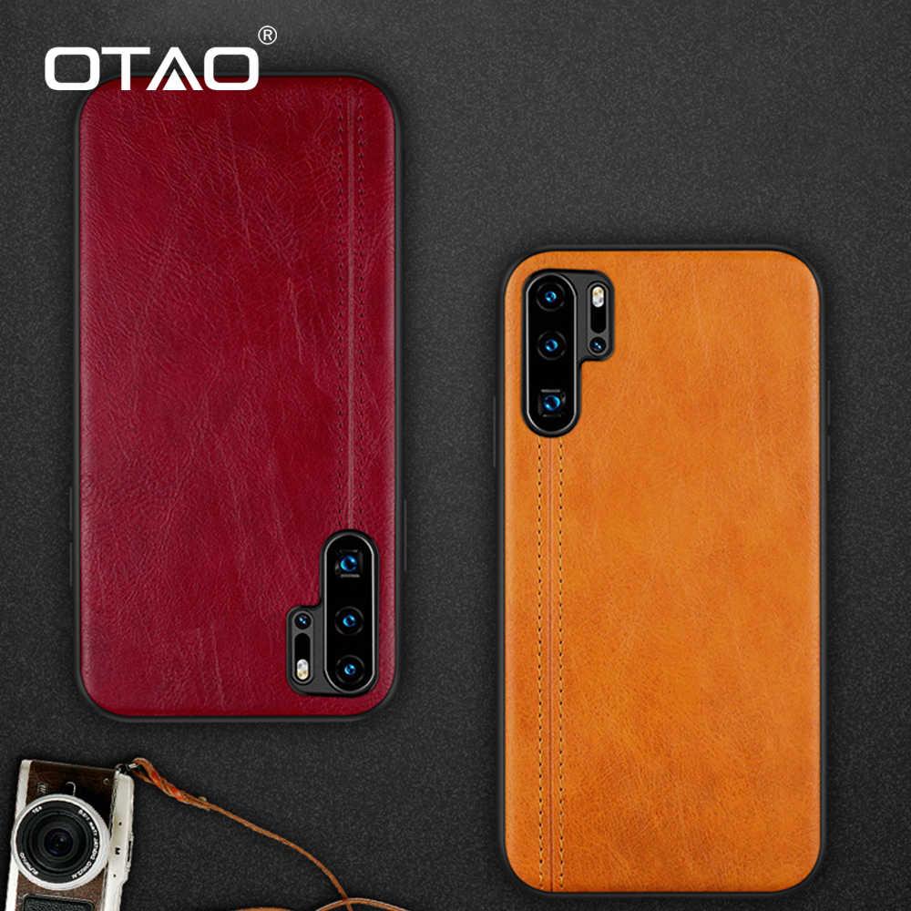OTAO החדש עור מפוצל מקרה עבור Huawei P30 P20 לייט P10 בתוספת Mate 20 10 פרו 20X עמיד הלם מקרה מוצק צבע TPU Case כיסוי אופן בסיסי