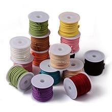 Color mezclado Faux Suede Cord 3×1.5mm Resultados de La Joyería de 5 m/roll, 25 rollos/bolsa