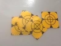 100pcs Yellow Reflector Sheet 50 x 50 mm Reflective Tape Target Total Station