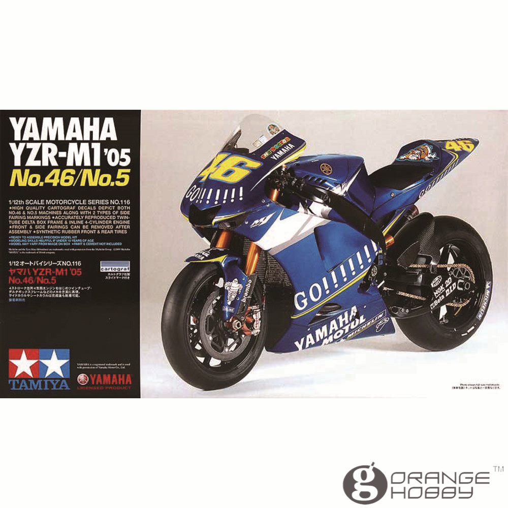 ФОТО OHS Tamiya 14116 1/12 YZR-M1 05 No.46/No.5 Scale Assembly Motorcycle Model Building Kits