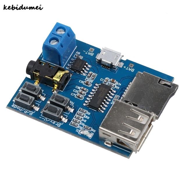 Kebidumei 1 قطعة TF بطاقة U القرص MP3 تنسيق فك مجلس ميركو USB ميناء مكبر للصوت فك وحدة مشغل الصوت