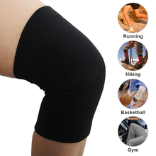 Slicone Non-slip Basketball Football Hiking Sport Safety Kneepad Knee Pads Training Elastic Knee Support Knee Protect Black