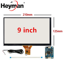 Планшет с навигацией для ПК, 9 дюймов, 210 мм * 125 мм, Raspberry Pi, емкостный сенсорный дигитайзер, сенсорная панель, стекло, USB плата драйвера