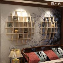 Настенный Duobao павильон древняя твердая древесина китайский чайник стойка гостиная настенная полка дзен современный минималистский