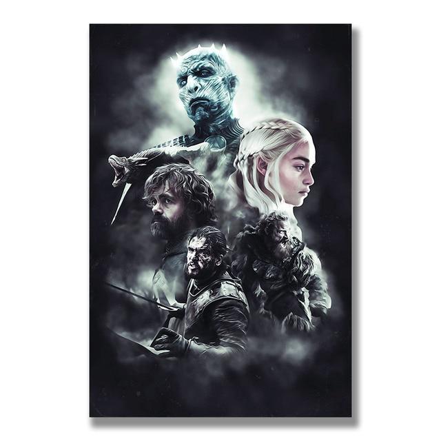 Плакат гобелен Игра престолов 8 шелк модель 2