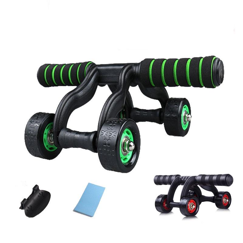 4 Rad Power Ab Bauch Roller Rad Für Bauch/taille/arme/beine Workout Fitness Gym Übung Körper Gebäude Bequemes GefüHl