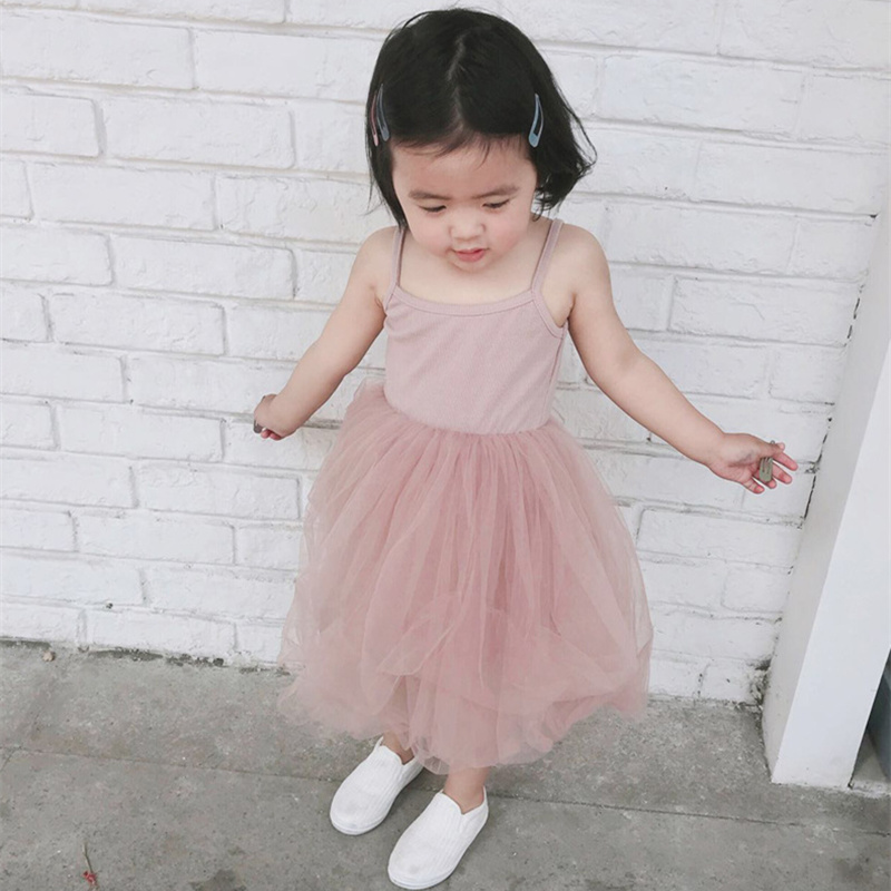 Dress Kids Clothing Tutu Princess-Dresses Baby-Girls Cotton Children Summer Sleeveless