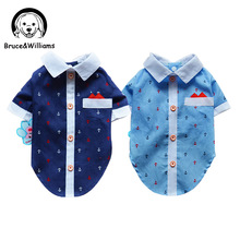 Bruce Williams Ship Print Shirt Costume Dog Clothes The Spring Festival T shirt Autumn Spring Clothing