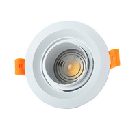 Dimmable LED cob downlight 5W 10W 15W Adjust beam angle 15 /45 /60 degree LED Ceiling Lamp AC110V 220V