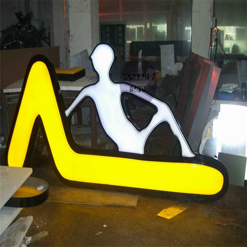 Factoy Outlet Outdoor Acrylic LED Channel Logo Signs