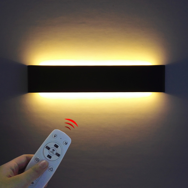 Minimalist 2.4G RF Remote Control Lamps For Bedside Room Mirror Luminary Lighting LED Aluminum Wandlamp With Controller Switch