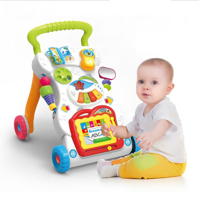 2017 nuevo carro de bebé 7 a 18 meses del bebé carro de juguete andador