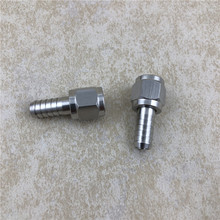 2pcs/lot 304 Stainless Steel Barbed Swivel Nut, 5/16 ID, Ball Lock MFL FOR Pin Disconnect Manifold beer fitting