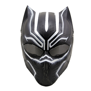 ZJZ07 Tactical Black Panther Skull Ghost Full Face Protective Airsoft Mask Military Paintball Wargame Cosplay Halloween Party image