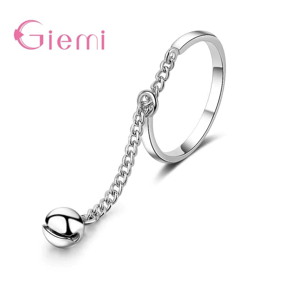 Fast Delivery Fashion Rings Adjustable Size Chain Bell Women Ladies Formal Occasions Anniversary Appointment Jewelry