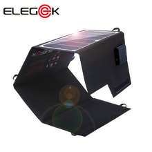 ELEGEEK Foldable Waterproof 26W Solar Panel Charger 12V 5V DC Solar Panel Battery Charger for Car