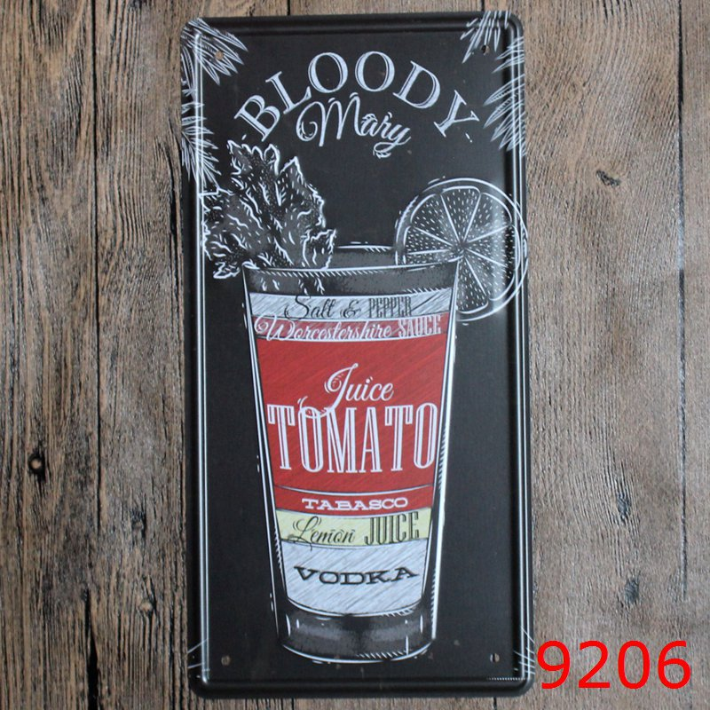 LOSICOE Vintage license plate BLOODY Metal signs home decor Office Restaurant Bar Metal Painting art 15x30 CM