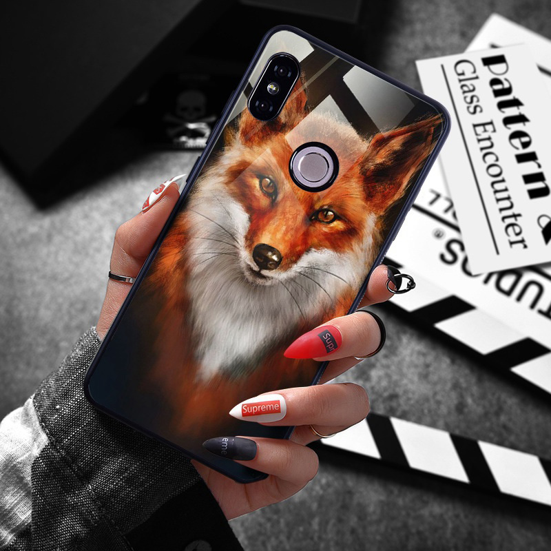 note 5 phone cases Tempered-Glass-Case-For-Xiaomi-Redmi-Note-5-5-Pro-5-Plus-Note-4X-Case-Luxury-Animal-Pattern-Case-For-Xiaomi-Mi-8-A1-5X-Coque-(5)