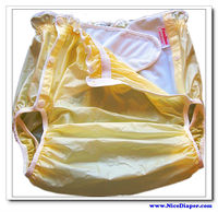 Free Shipping FUUBUU2219 Yellow M 1PCS Adult Diapers Non Disposable Diaper Couche Adulte Pvc Shorts Diapers