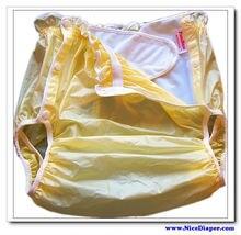 Бесплатная доставка fuubuu2219-yellow-m-1pcs подгузники для взрослых не одноразовые пеленки Couche взрослый ПВХ Шорты подгузники для взрослых