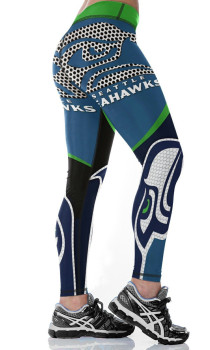 Unisex Football Team Seahawks Print Tight Pants Workout Gym Training Running Yoga Sport Fitness Exercise Leggings Dropshipping