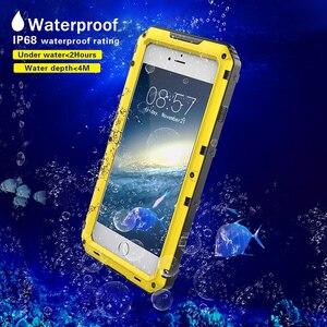 Image 3 - 안티 충격 하이브리드 터프 헤비 메탈 Shockproof 갑옷 케이스 아이폰 X 8 7 6 6S 플러스 5 5S SE 보호 커버 유리 필름