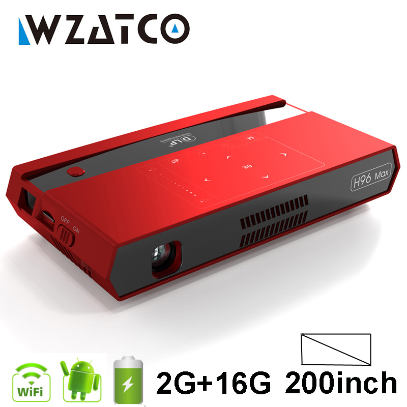 WZATCO 200inch Full HD 1080P MAX 4K MINI DLP Projector Smart Android WIFI Home Theater Beamer