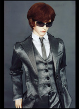 Silver gray Modern President Suit for BJD Doll 1/4 MSD 1/3 SD10 SD13 SD17 Uncle IP SOOM Doll Clothes LF59