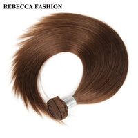 Rebecca Remy Hair Brazilian Straight Weave Human Hair Bundles 100g Pc 12 To 24 Inch For