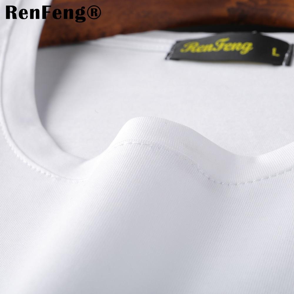 New Blank black Mercerized Cotton Short Sleeve Men\`s T-Shirt Underwear Round Collar Ice Silk Cool T-Shirt Slim Blusa Tops Summer (7)